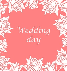 Rose wedding vector
