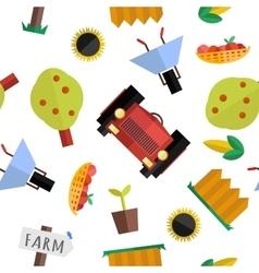 seamless farm pattern vector image vector image