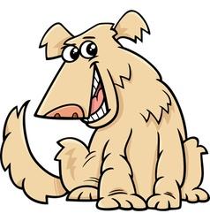 Shaggy dog cartoon vector