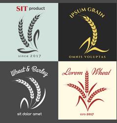 ears of wheat logo set vector image vector image