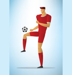 football player 24 vector image vector image