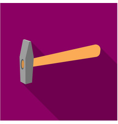 hammer icon in flate style isolated on white vector image