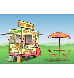 Hot Dog Ice Cream vector image vector image