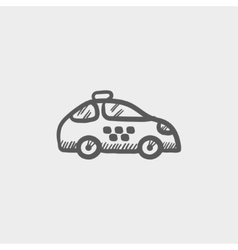 Police car sketch icon vector image