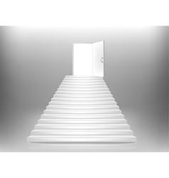 staircase door vector image vector image