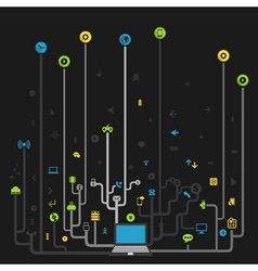 Technology of the computer vector image vector image