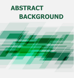 abstract green geometric overlapping design vector image vector image