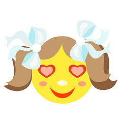 in love smiley girl vector image vector image