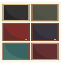 set of school boards vector image