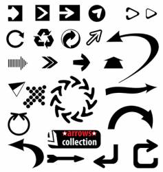 arrows collection vector image vector image