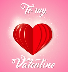 Decorative greeting card for Valentines day vector image vector image