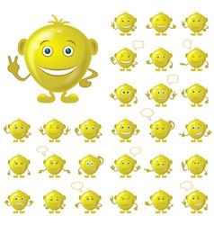golden smileys set vector image