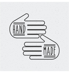 hand made design vector image