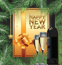Happy new year elegant background vector image