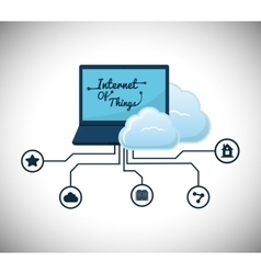 Laptop internet of things design vector