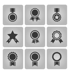 medal and award icons vector image