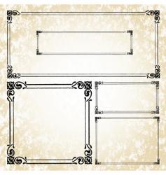 swirl frame set vector image
