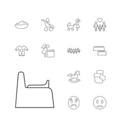 13 child icons vector
