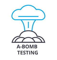 A bomb testing thin line icon sign symbol vector