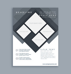 Abstract business brochure template design in vector