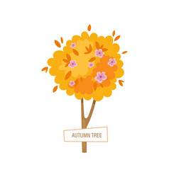 Agriculture and farming autumn lush gardening vector