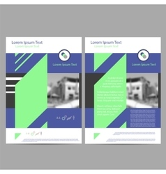Annual Report Leaflet Brochure Flyer Template vector image