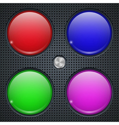 Application buttons template vector image