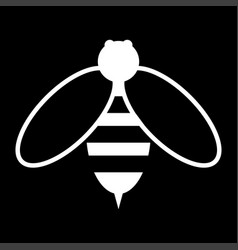 Bee the white color icon vector