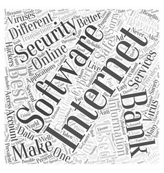 Best internet security software Word Cloud Concept vector
