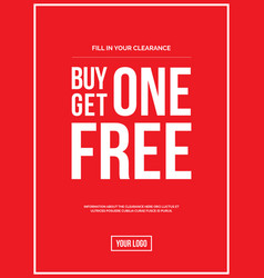 Buy one get one off sign vector