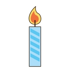 Candle flame year birthday vector