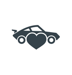car love concept logotype template design vector image