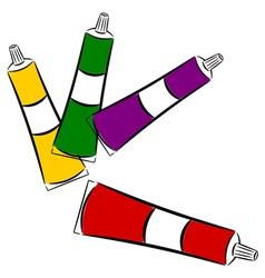 Cartoon tubes of paint eps10 vector