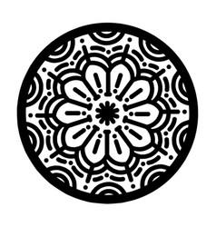 Circle floral ornaments vector