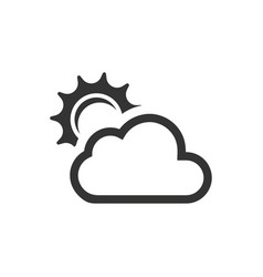 Cloudy day icon vector