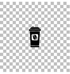Coffee to go icon flat vector