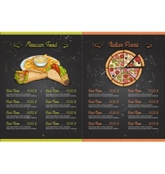 Color horisontal menu design vector