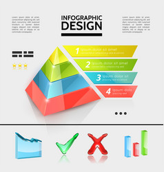 Colorful business infographic elements concept vector