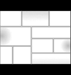 Comic book page blank template vector