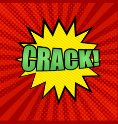 Comic crack wording background vector