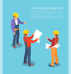 Construction management color vector