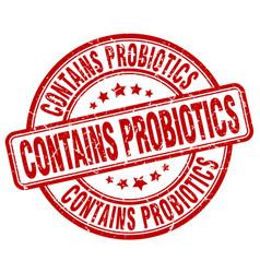 Contains probiotics vector