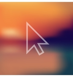 cursor icon on blurred background vector image