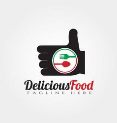 Delicious food logo designgood food icon vector