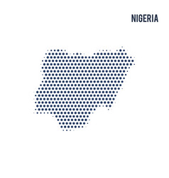dotted map of nigeria isolated on white background vector image