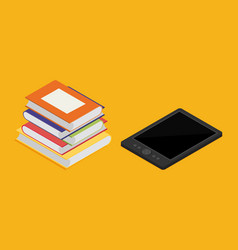 e-book reader and modern education by technology vector image