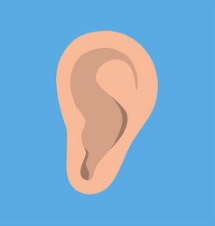 ear icon in flat style listen symbol isolated on vector image
