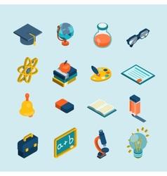 Education Isometric Set vector image