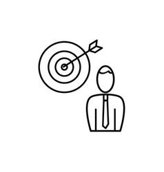 employee business target icon vector image