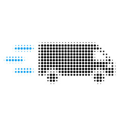 fast delivery car halftone icon vector image